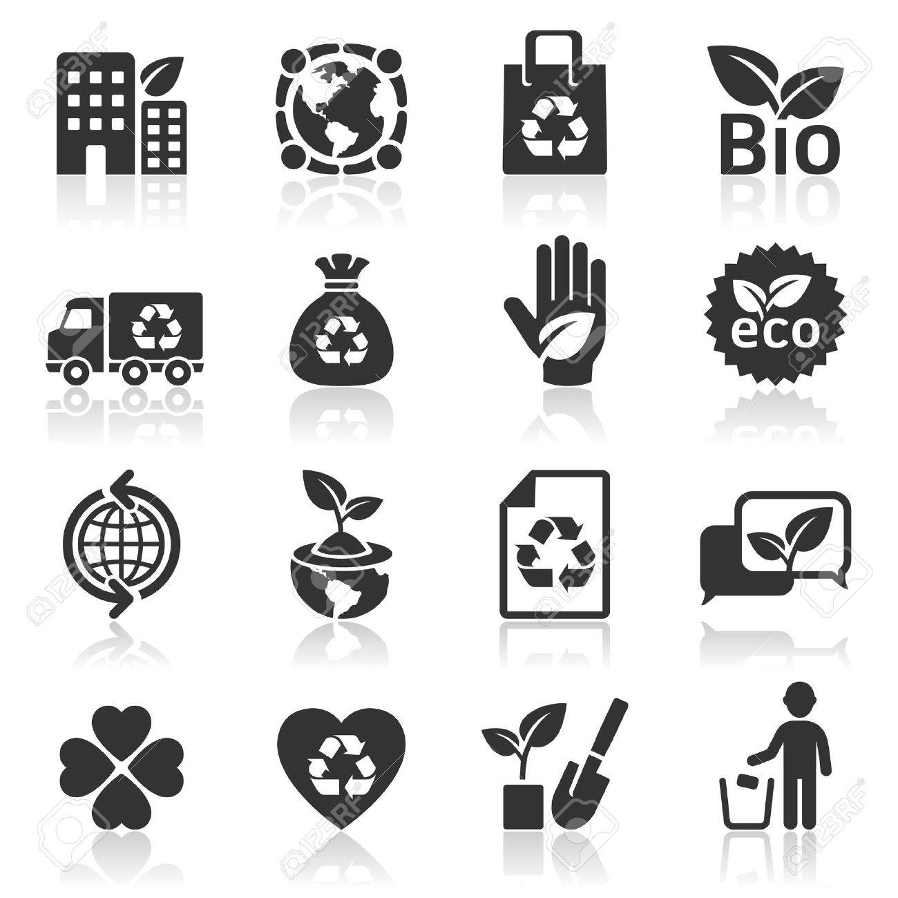 Ecology icons Stock Vector - 16638514