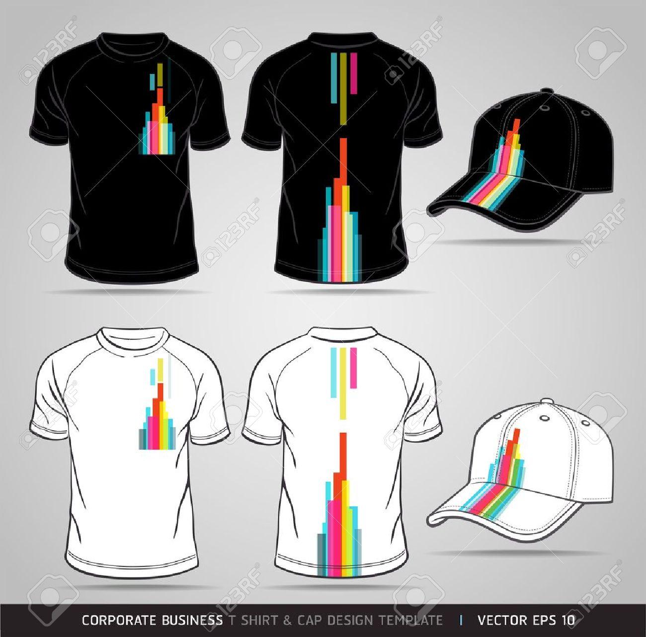 Shirt design template size - T Shirt Size Corporate Identity Business Set T Shirt And Cap Design Template