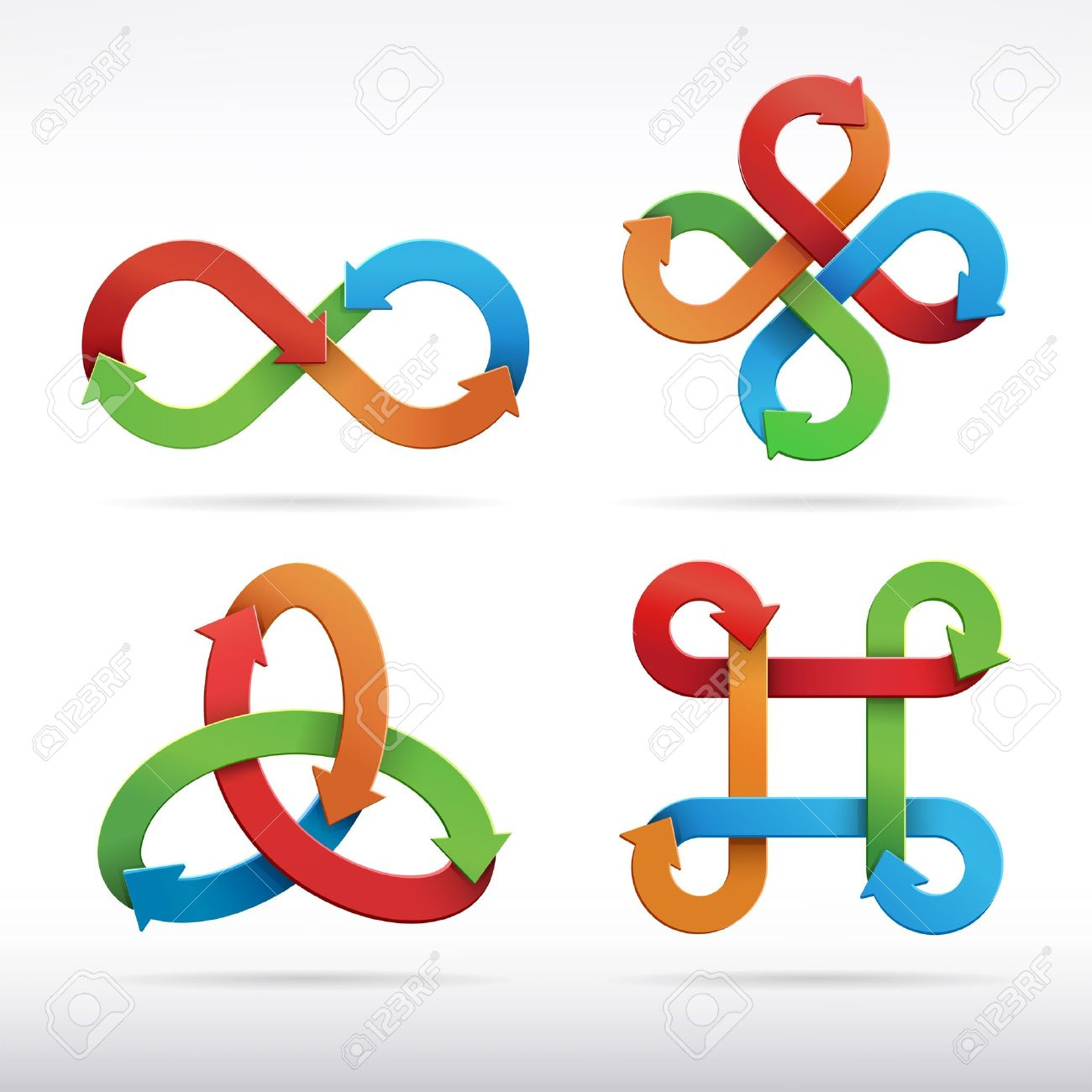 Colorful infinity symbol icons  Vector Illustration Stock Vector - 16673034