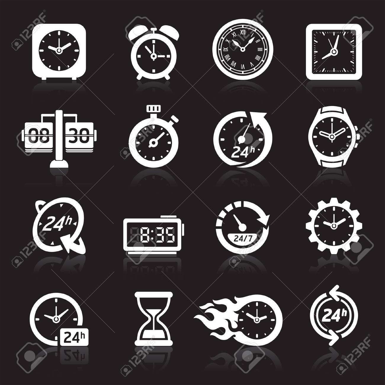 Clocks icons. Stock Vector - 17098676