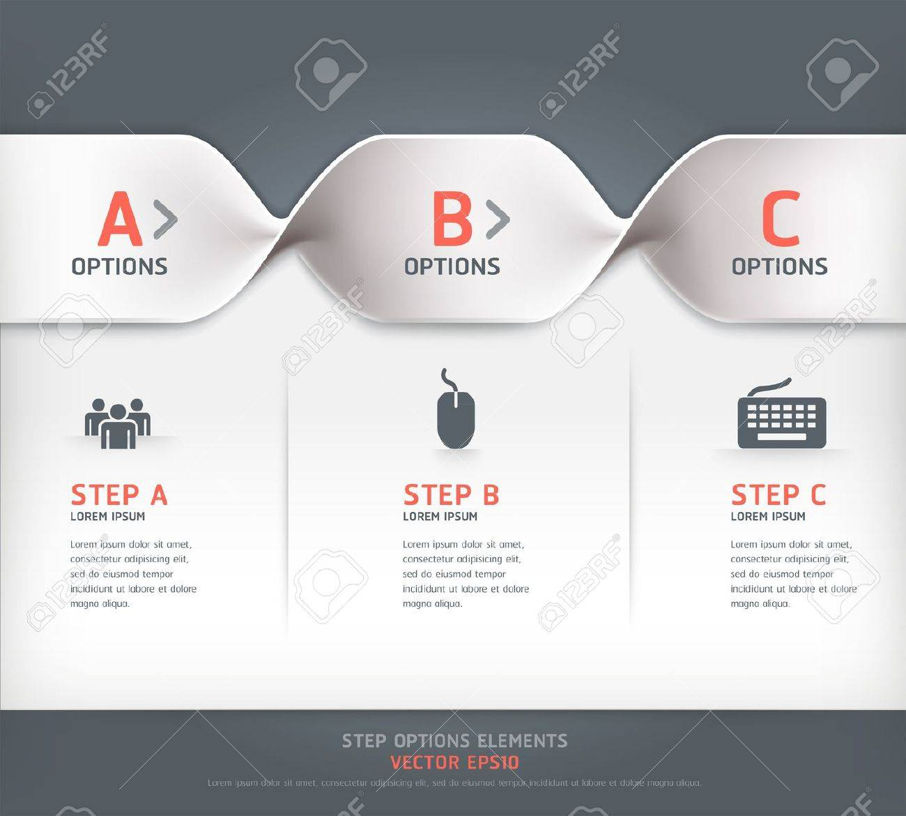 Modern spiral step options banner  Vector illustration  can be used for workflow layout, diagram, number options, web design Stock Vector - 18052536