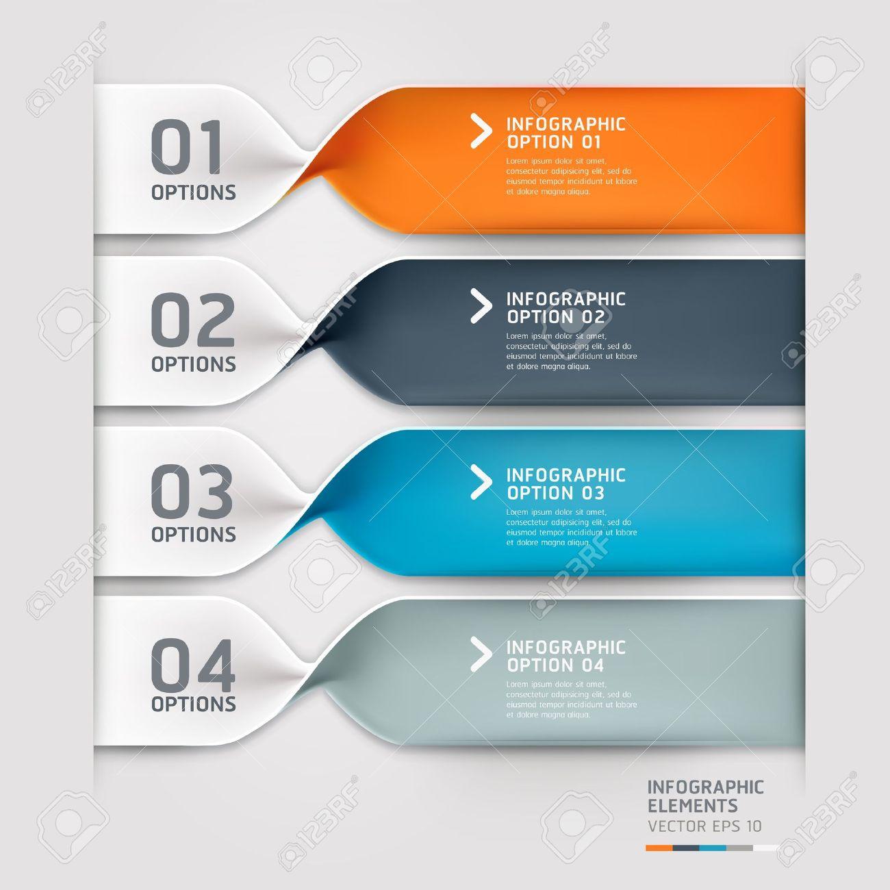 Modern Spiral Infographics Options Banner Vector Illustration ...
