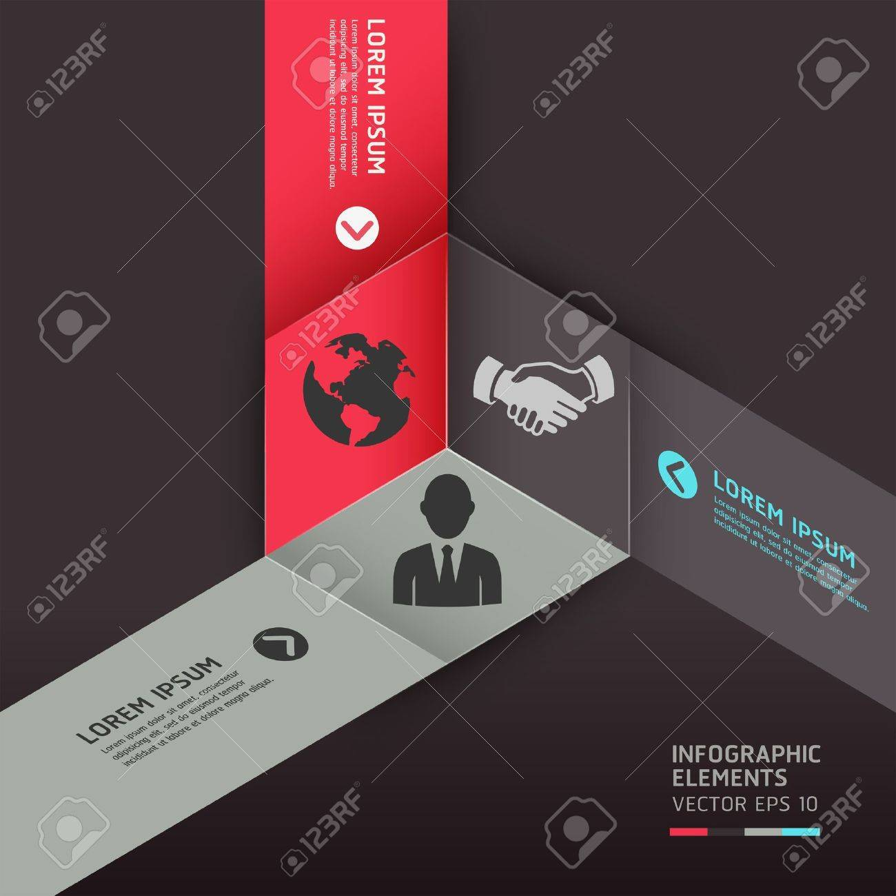 Modern cube origami style options banner. can be used for workflow layout, diagram, number options, step up options, web design, infographics. Stock Vector - 18276161