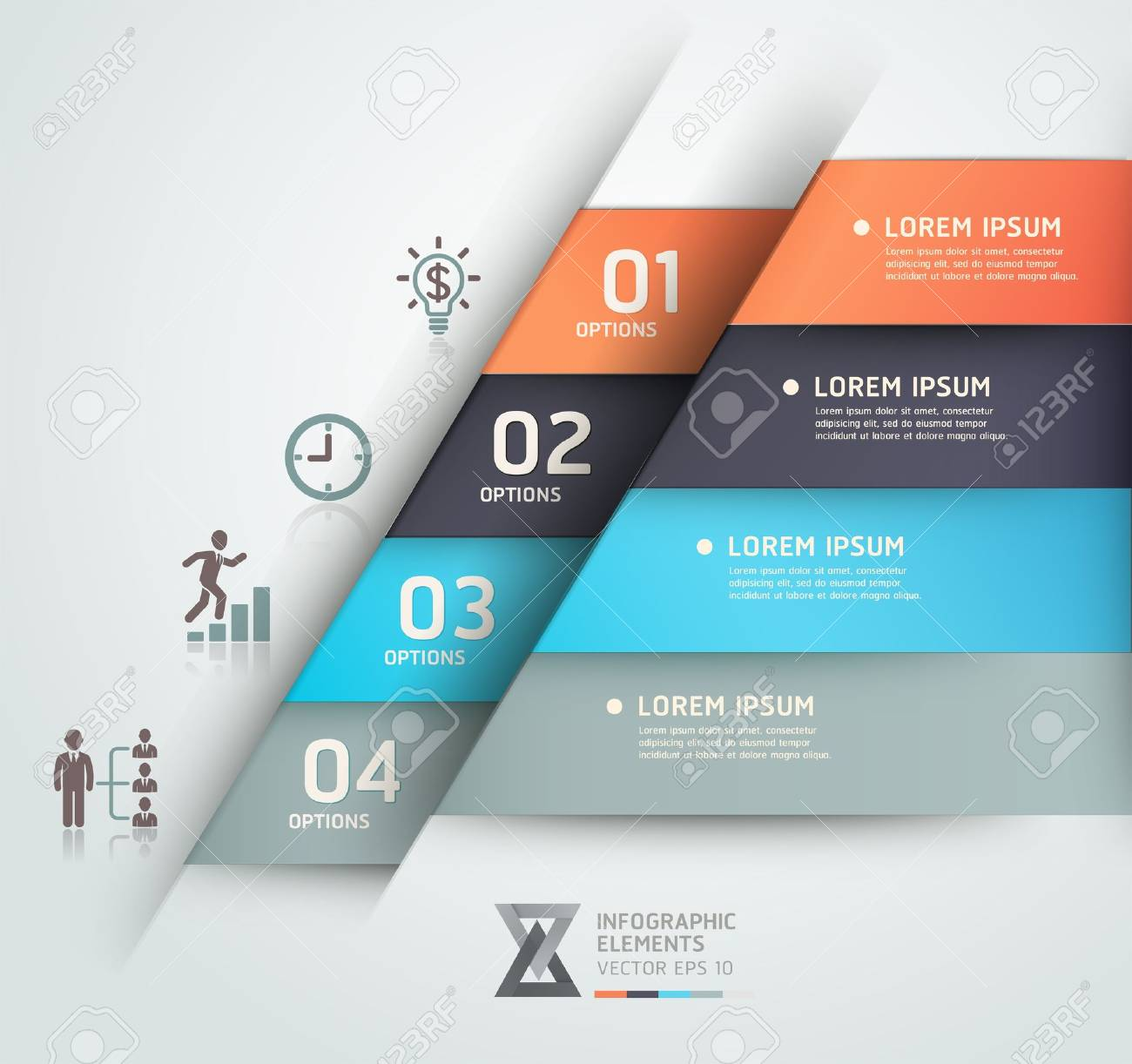 Modern business steb origami style options banner  Vector illustration  can be used for workflow layout, diagram, number options, step up options, web design, infographics Stock Vector - 18311318