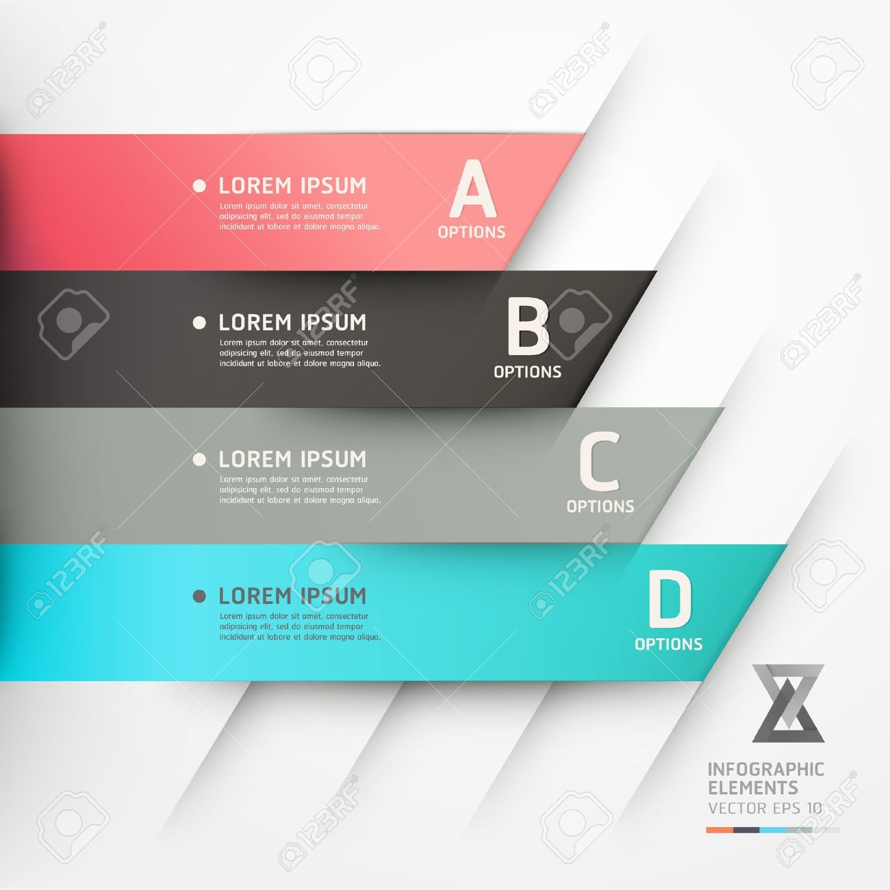 Modern origami style options banner  Vector illustration  can be used for workflow layout, diagram, number options, step up options, web design, infographics Stock Vector - 18311317