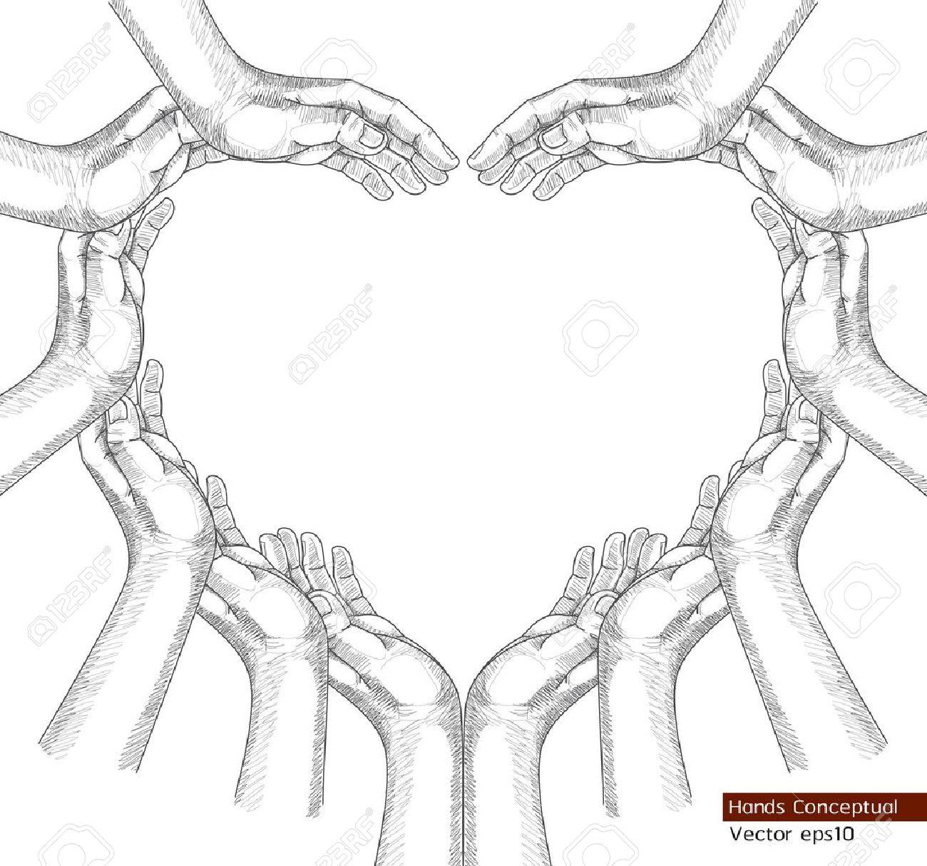 Hands Drawing Conceptual Stock Vector - 18758993