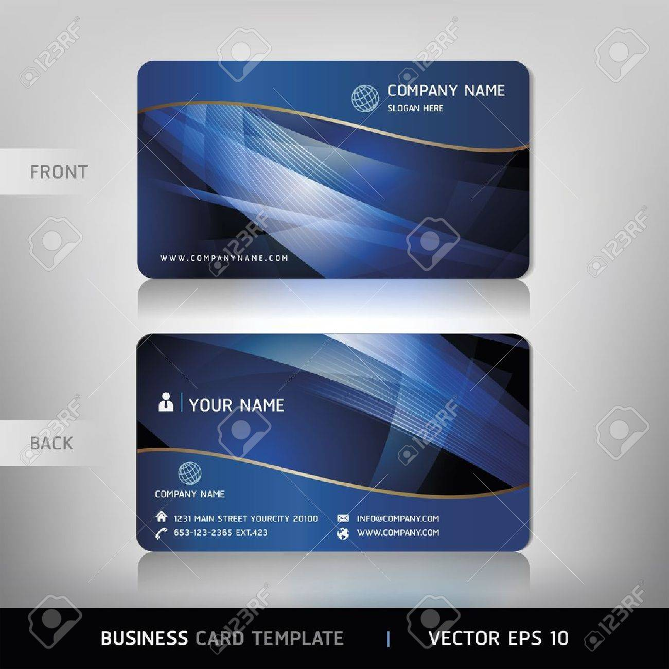 Business Card Set. Vector illustration Stock Vector - 18759363