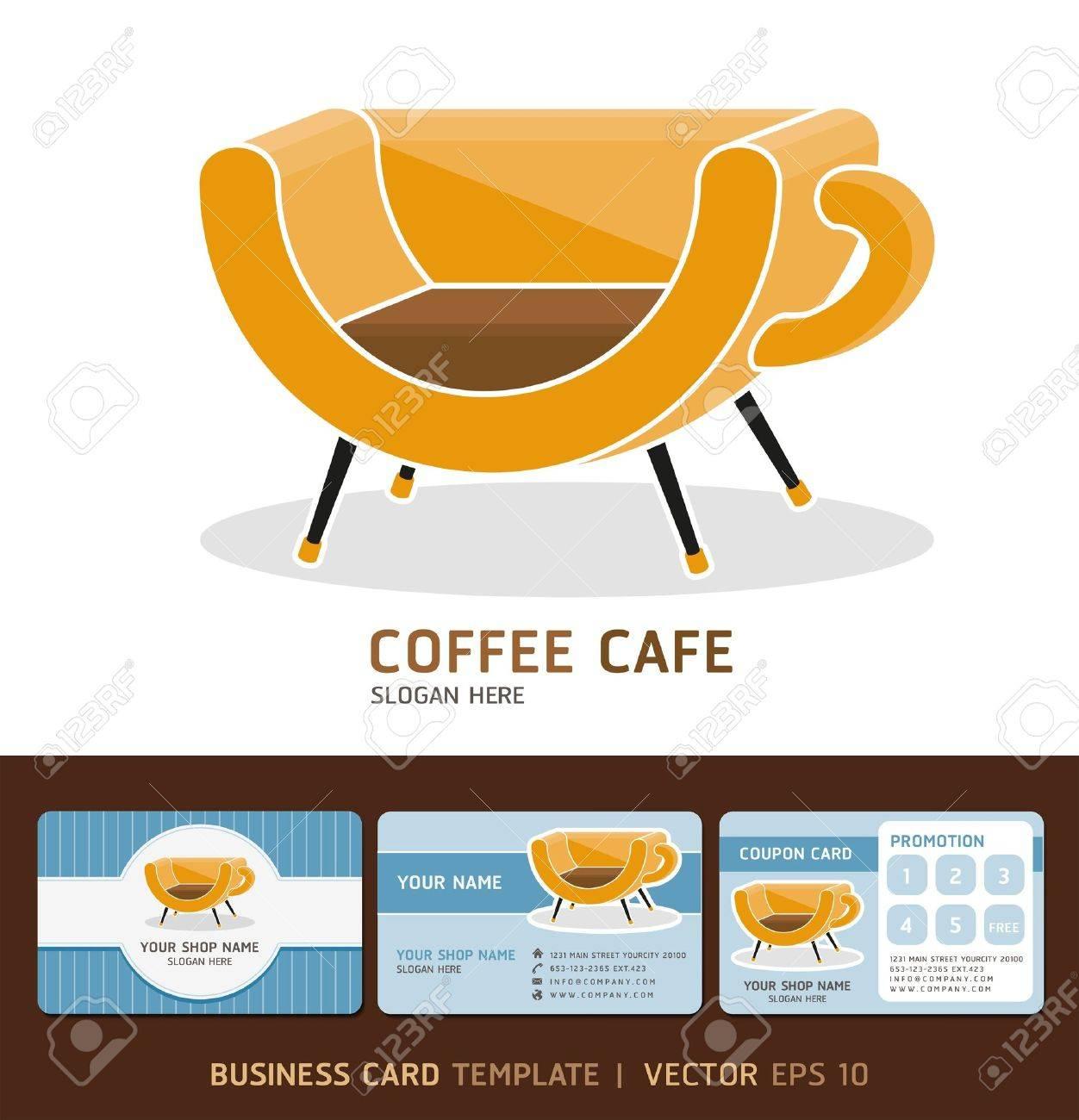 Icne Caf Logo Et Cartes De Visite Vector Illustration EPS 10