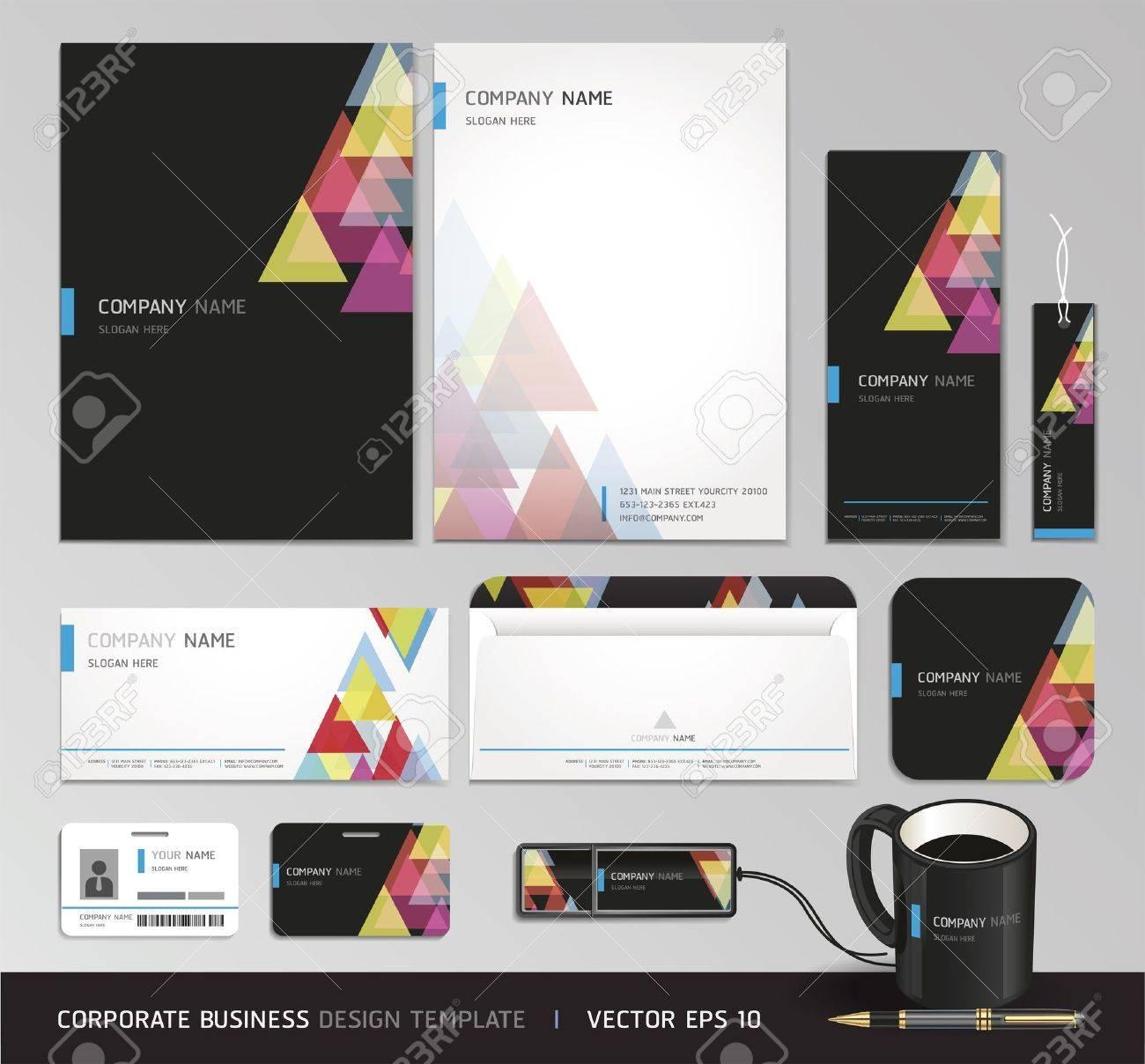 Corporate identity business set Vector illustration - 18759314