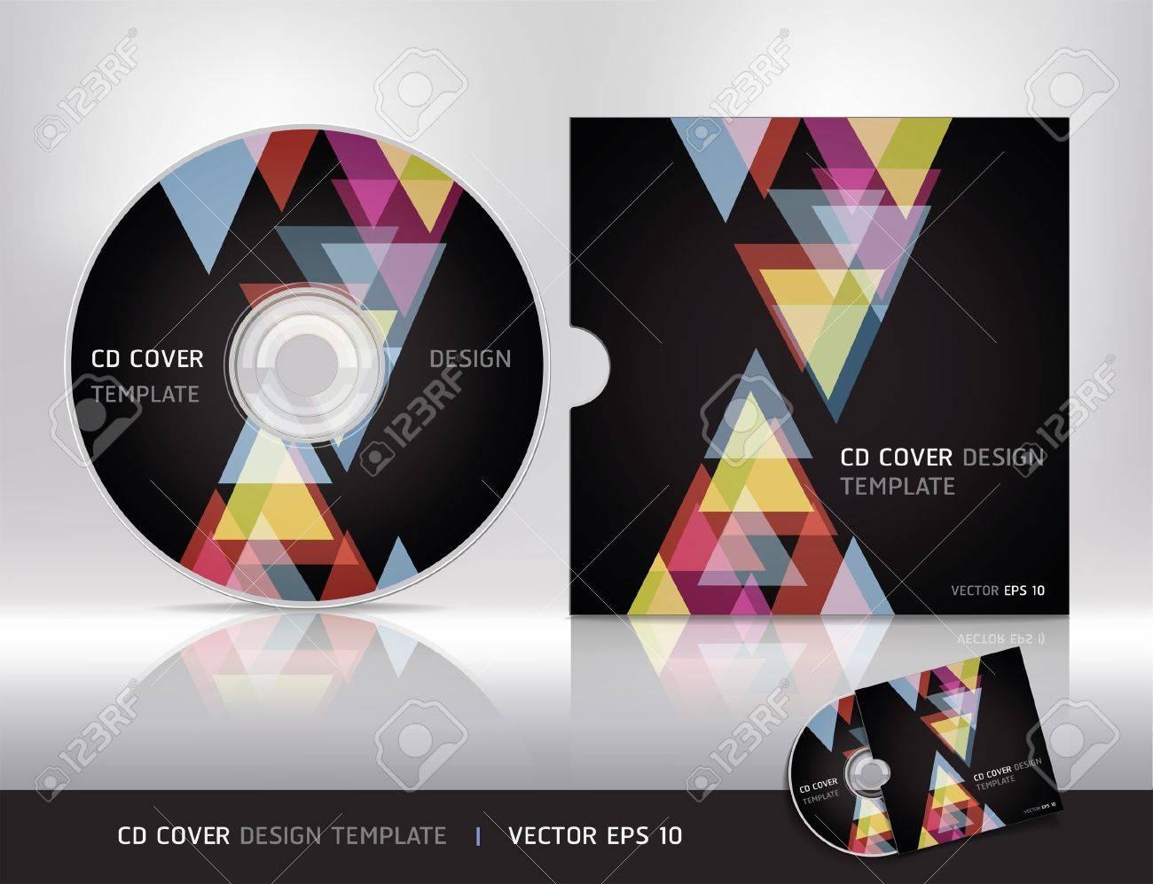 Cd cover design template Vector illustration Stock Vector - 18759309