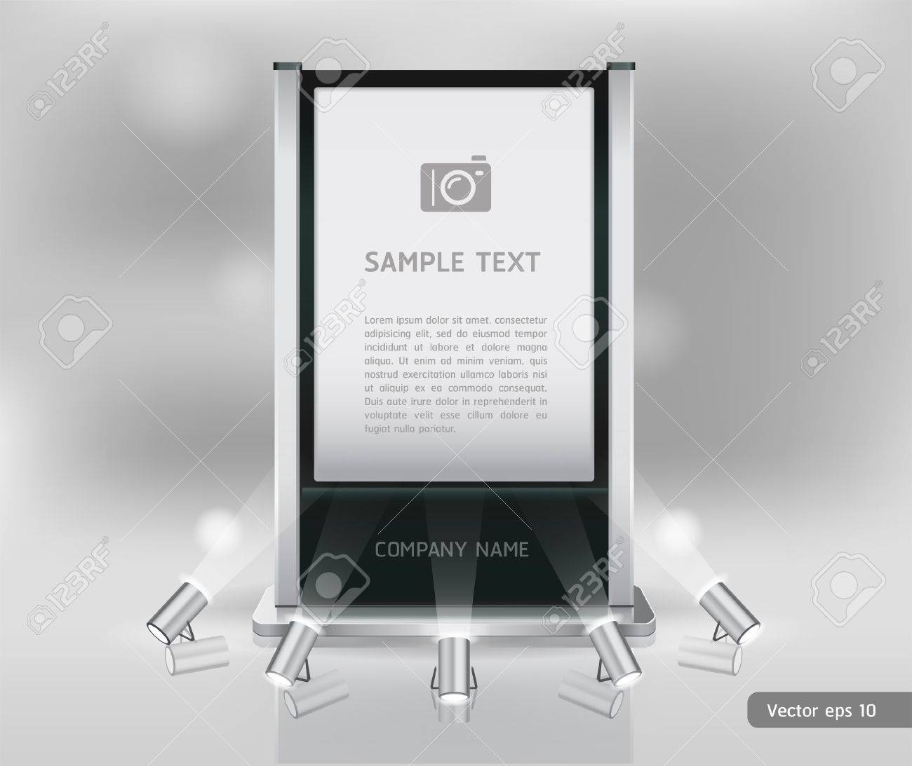 Trade exhibition stand display Vector Stock Vector - 18759044