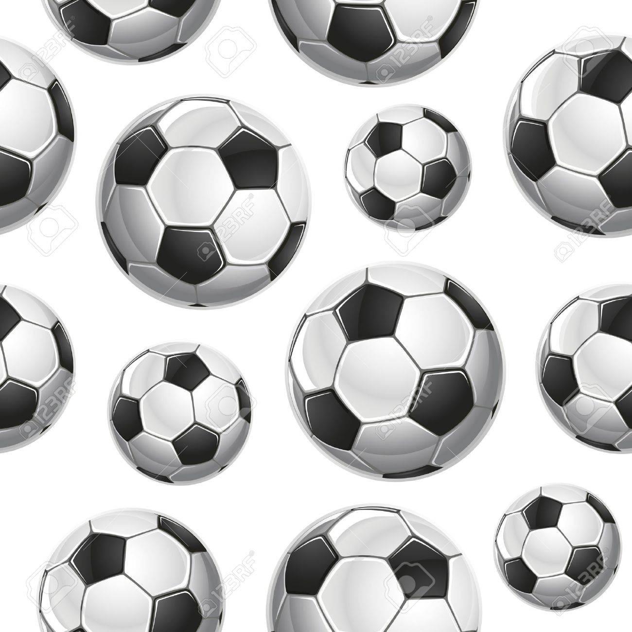 Soccer Balls Seamless pattern. Vector illustration Stock Vector - 18759003
