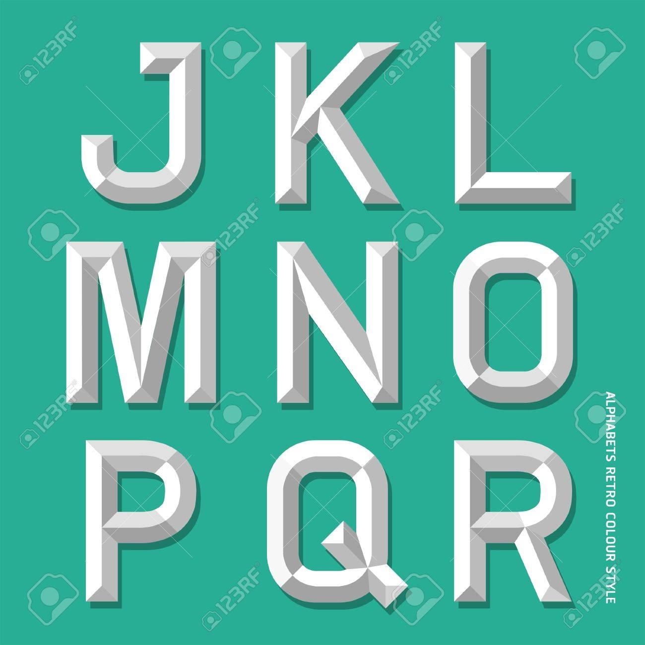 Alphabet modern colour style illustration Stock Vector - 18914605