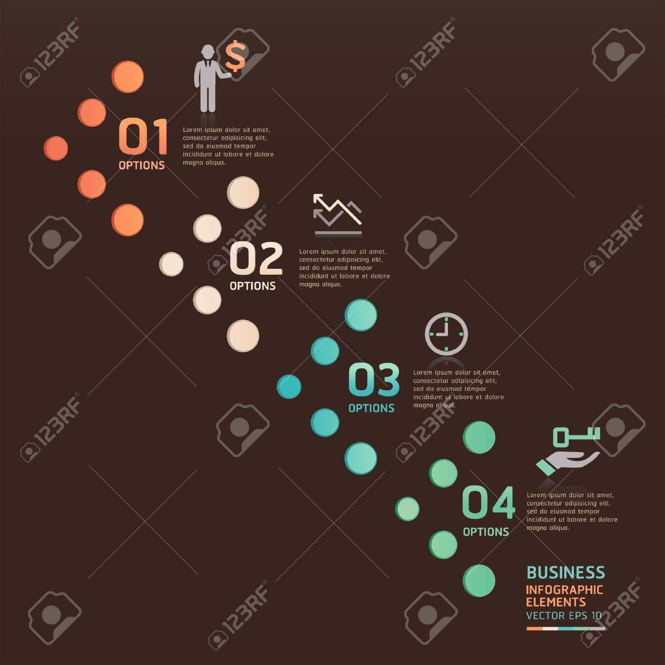 Modern business dot arrow options  Vector illustration  can be used for workflow layout, diagram, number options, web design, infographics Stock Vector - 19187710
