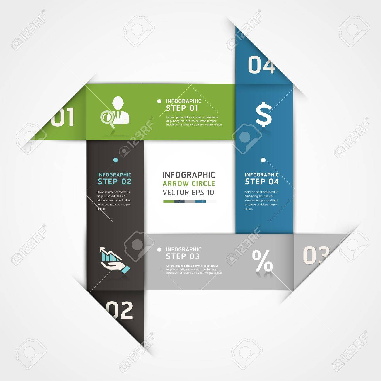 Abstract business steb origami style options banner  Vector illustration  can be used for workflow layout, diagram, number options, step up options, web design, infographics Stock Vector - 19262155