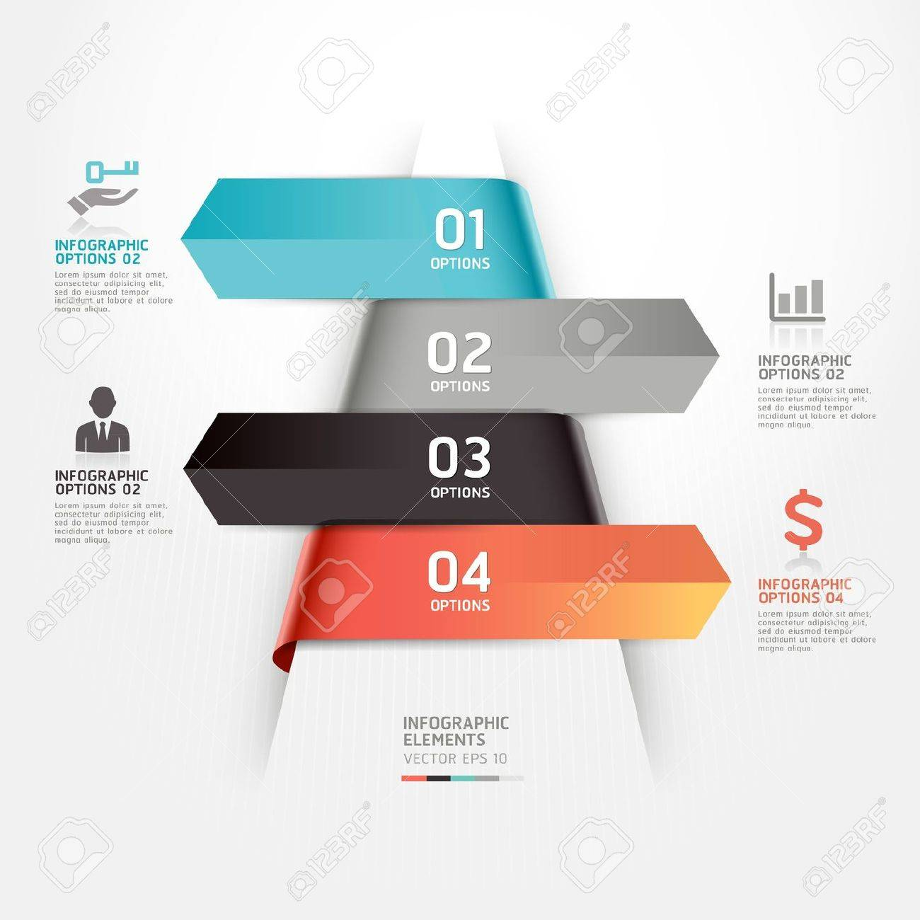 Abstract business infographics template illustration  can be used for workflow layout, diagram, number options, step up options, web design, infographics Stock Vector - 19262158