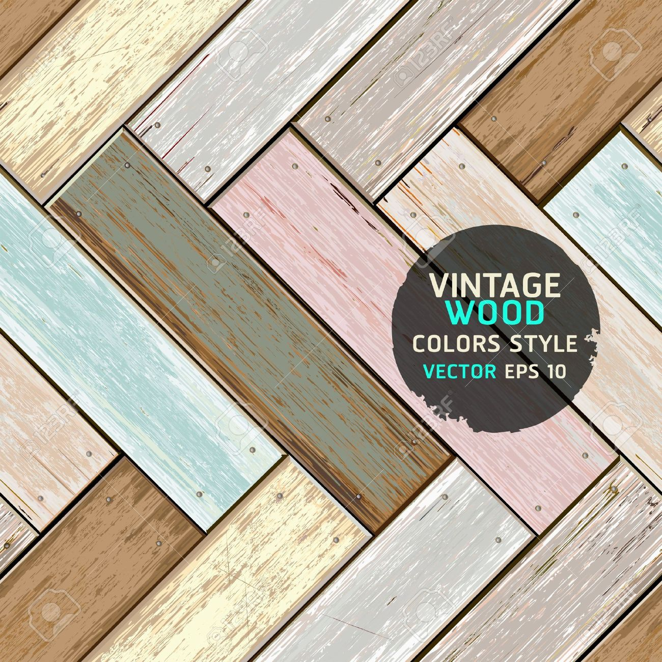Wooden vintage color texture background illustration Stock Vector - 19489961
