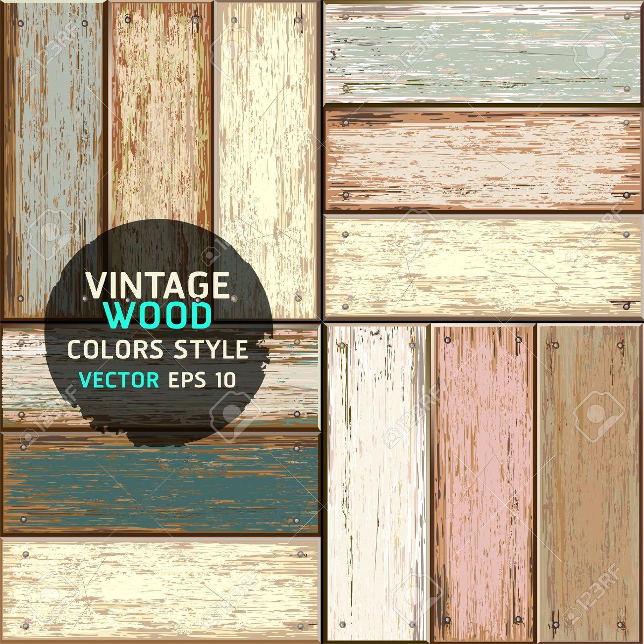 Wooden vintage color texture background illustration Stock Vector - 19489964