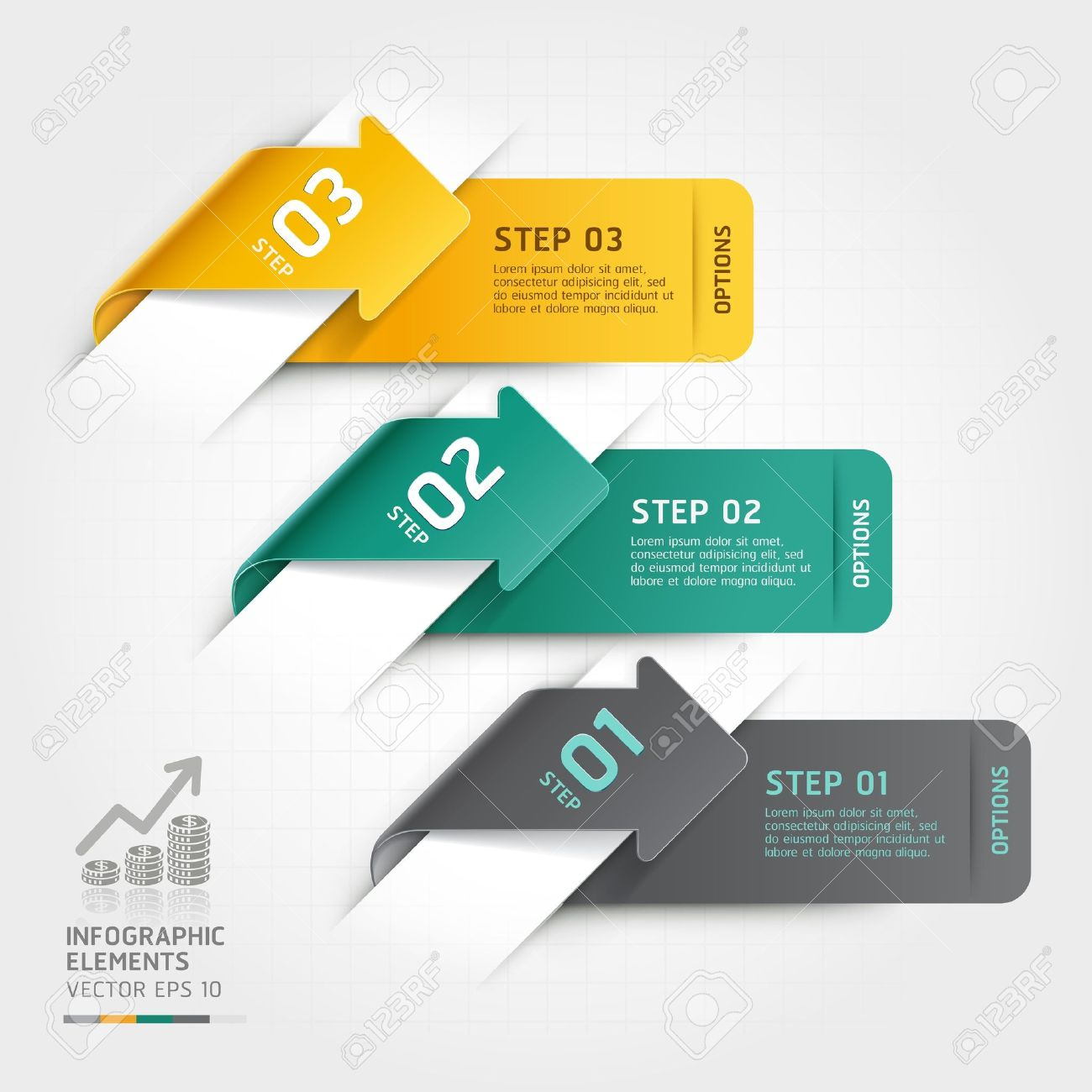 Abstract arrow infographics template  Vector illustration  can be used for workflow layout, diagram, number options, business step options, banner, web design Stock Vector - 19760821