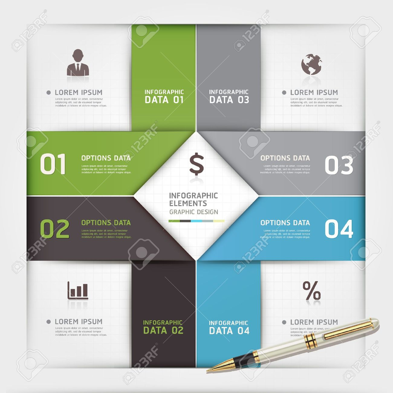 Modern arrow origami style number options banner. Vector illustration. can be used for workflow layout, diagram, step options, web design, infographics. Stock Vector - 19808819
