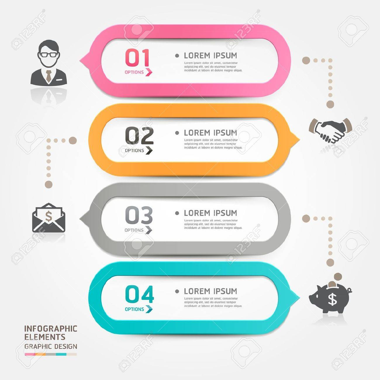 Modern business bubble speech template style  Vector illustration  can be used for workflow layout, diagram, number options, step up options, web design, banner template, infographic Stock Vector - 20232188