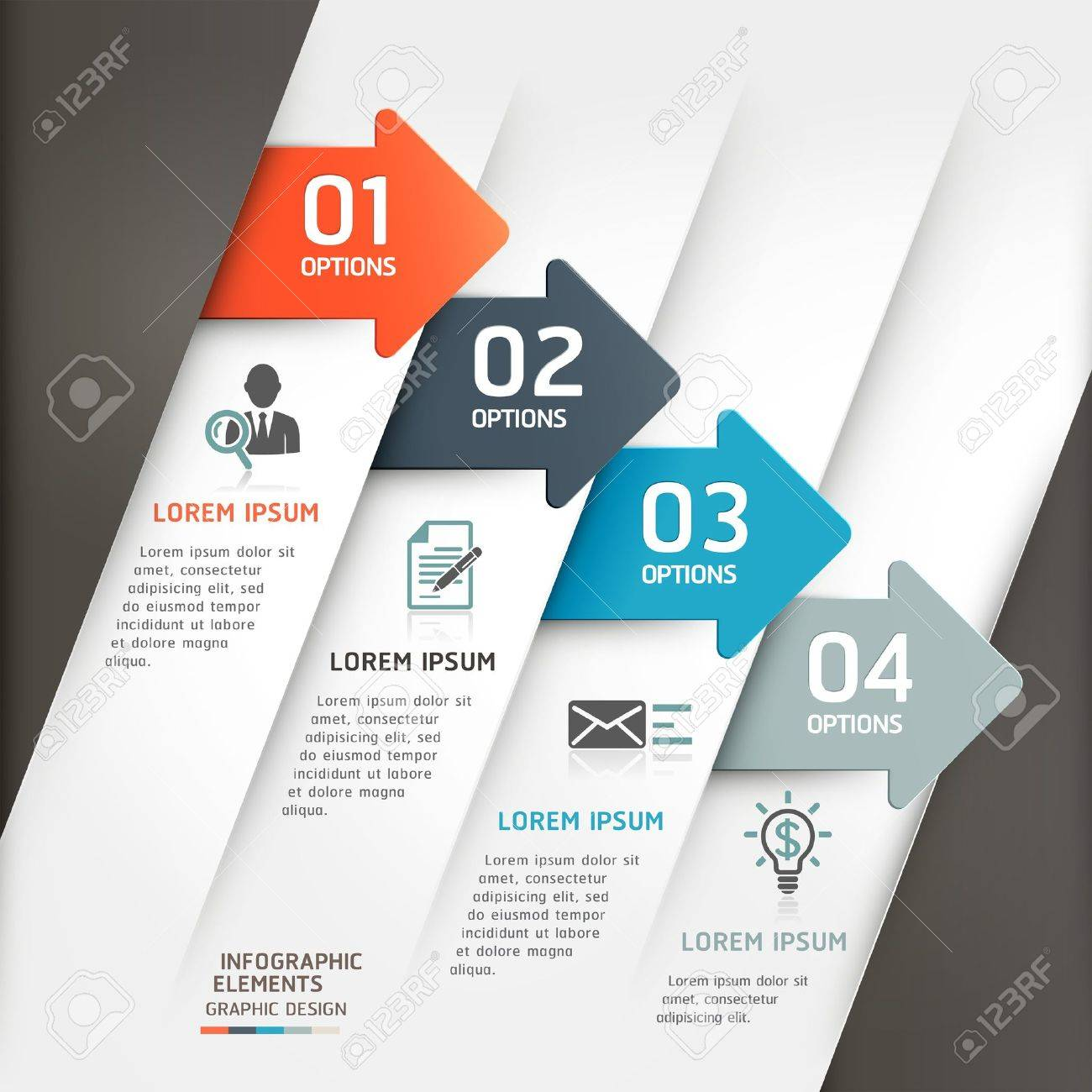 Abstract arrow infographics template  Vector illustration  can be used for workflow layout, diagram, number options, business step options, banner, web design Stock Vector - 20232189