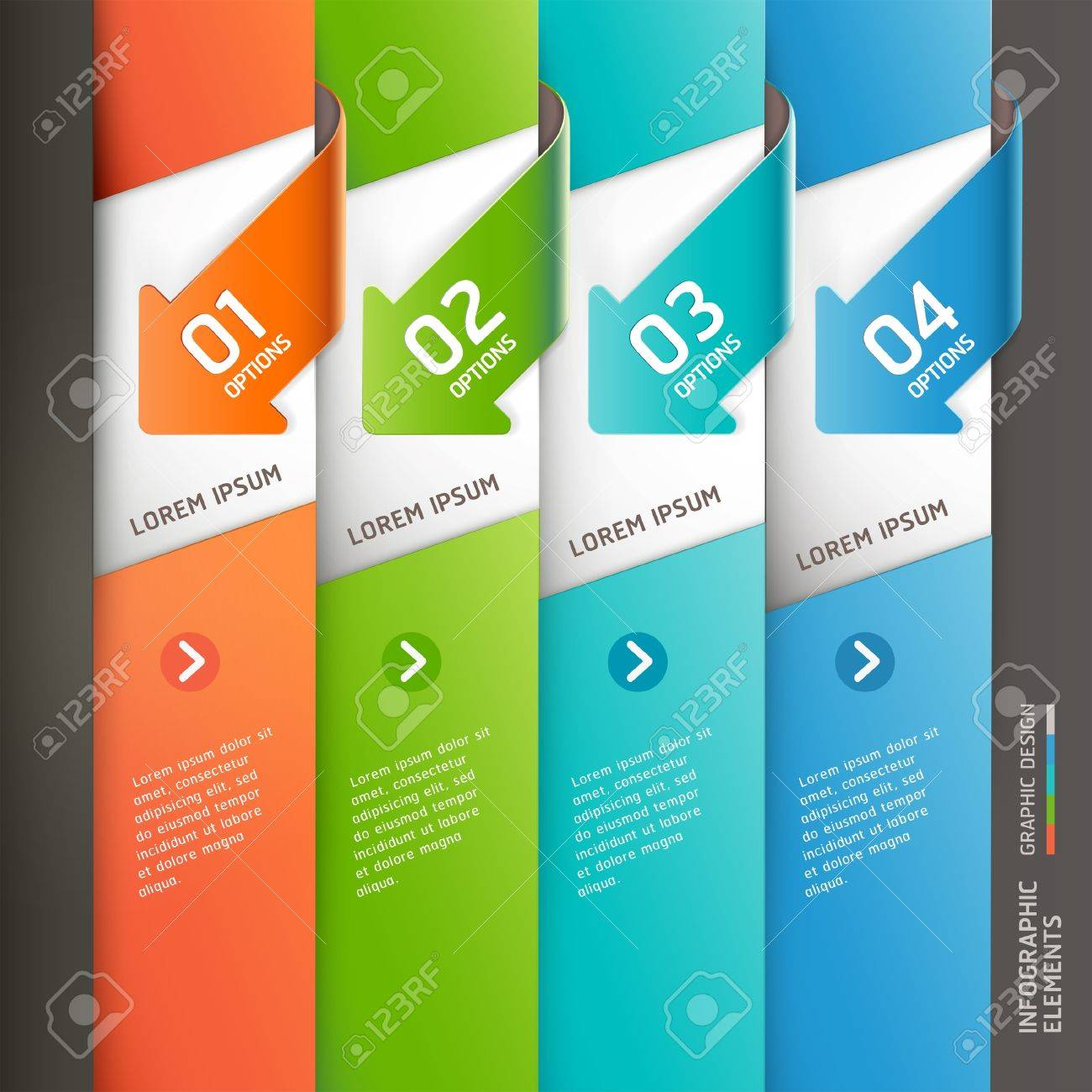 Modern arrow infographics template  Vector illustration  can be used for workflow layout, diagram, number options,  business step options, banner, web design Stock Vector - 20232193