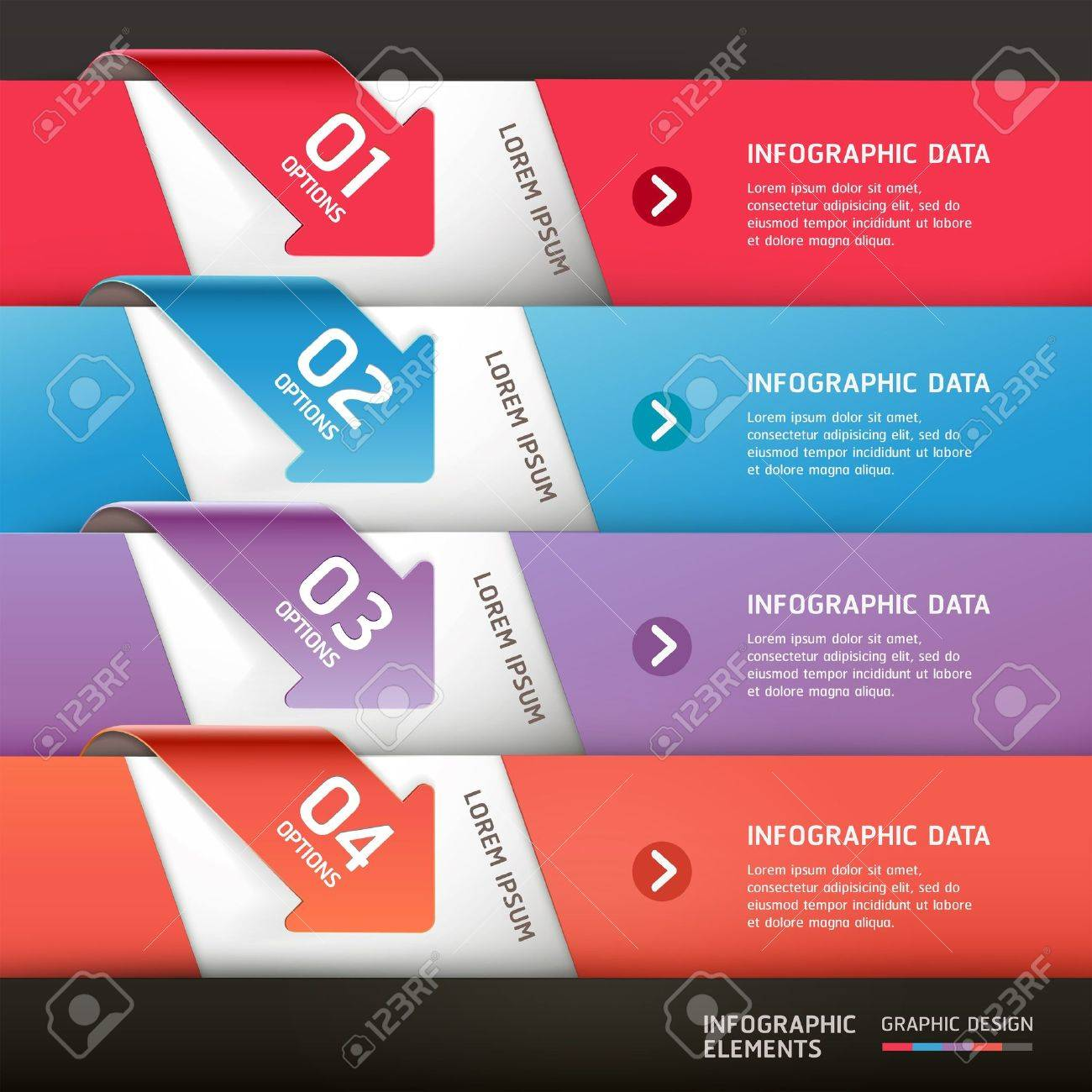 Modern arrow infographics template  Vector illustration  can be used for workflow layout, diagram, number options,  business step options, banner, web design Stock Vector - 20232191