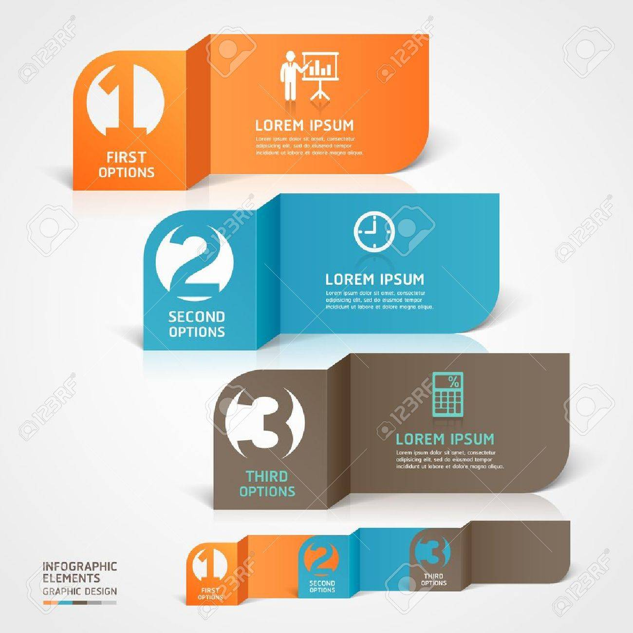 Modern Business Paper Cut Infographics Aspekt Illustration Können ...