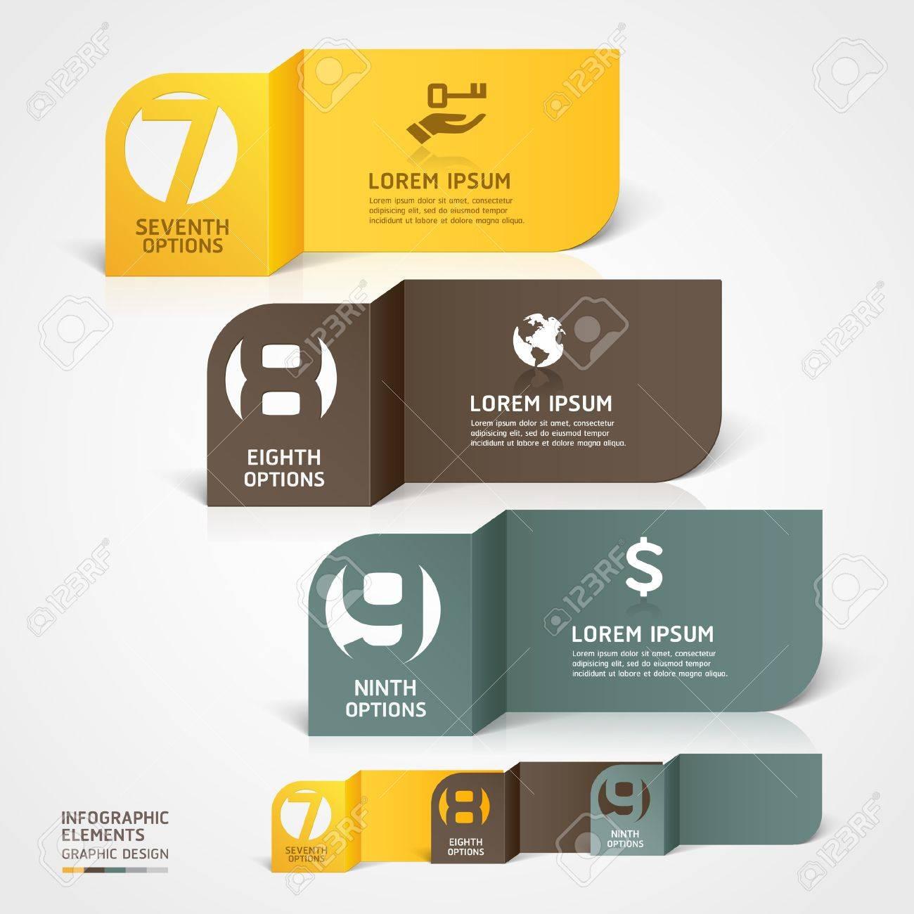 Modern Business Paper Cut Infografiken Anzahl Template Abbildung ...