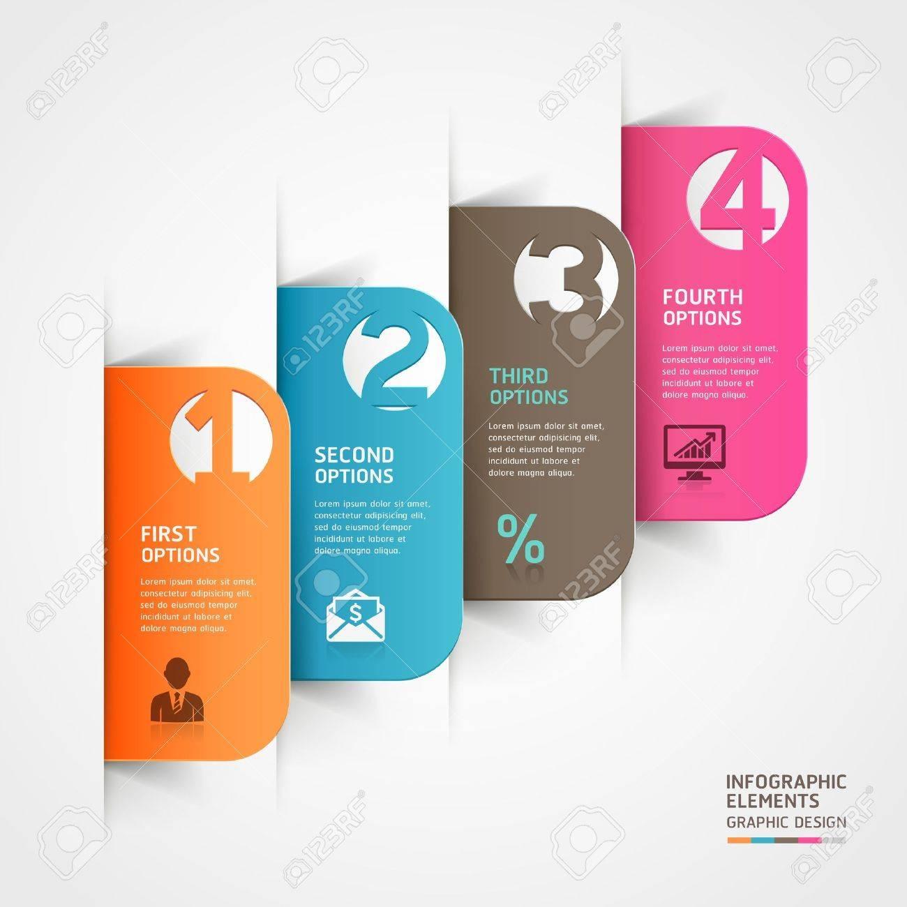 Abstract Business Paper Cut Infografiken Anzahl Template Abbildung ...