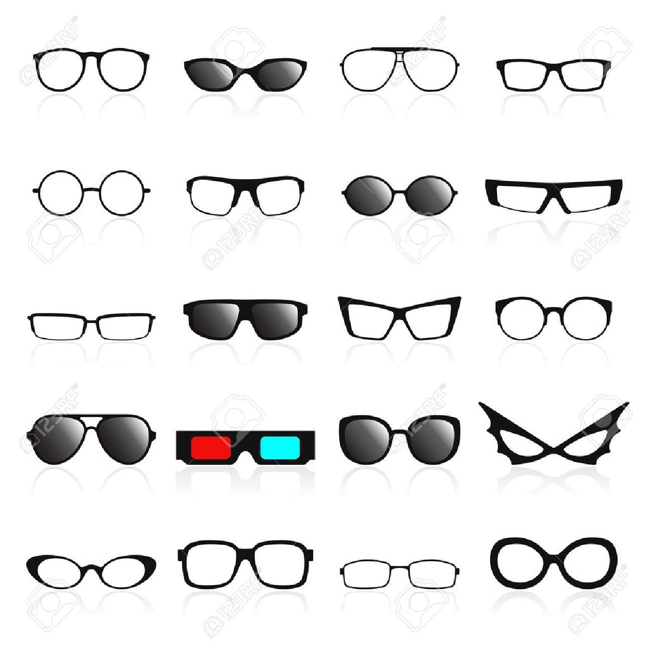 Glasses frame icons. Vector illustration - 21601571