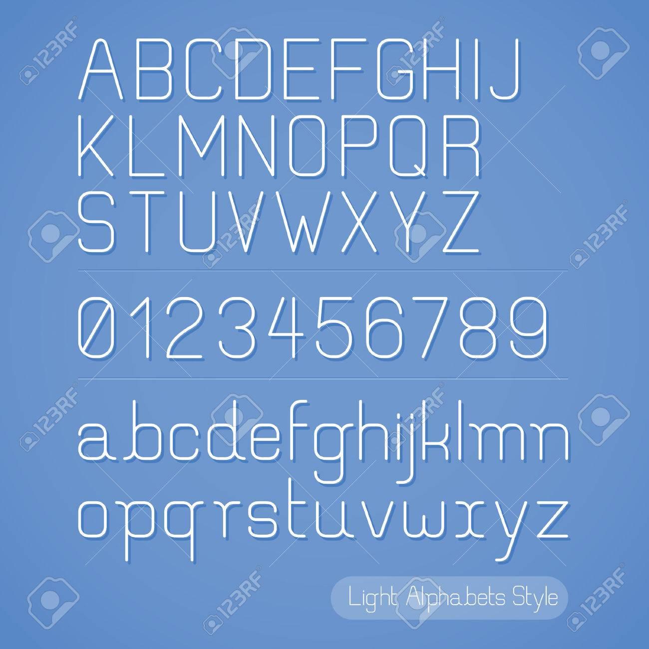 Alphabet Line style. Vector illustration. Stock Vector - 22958014