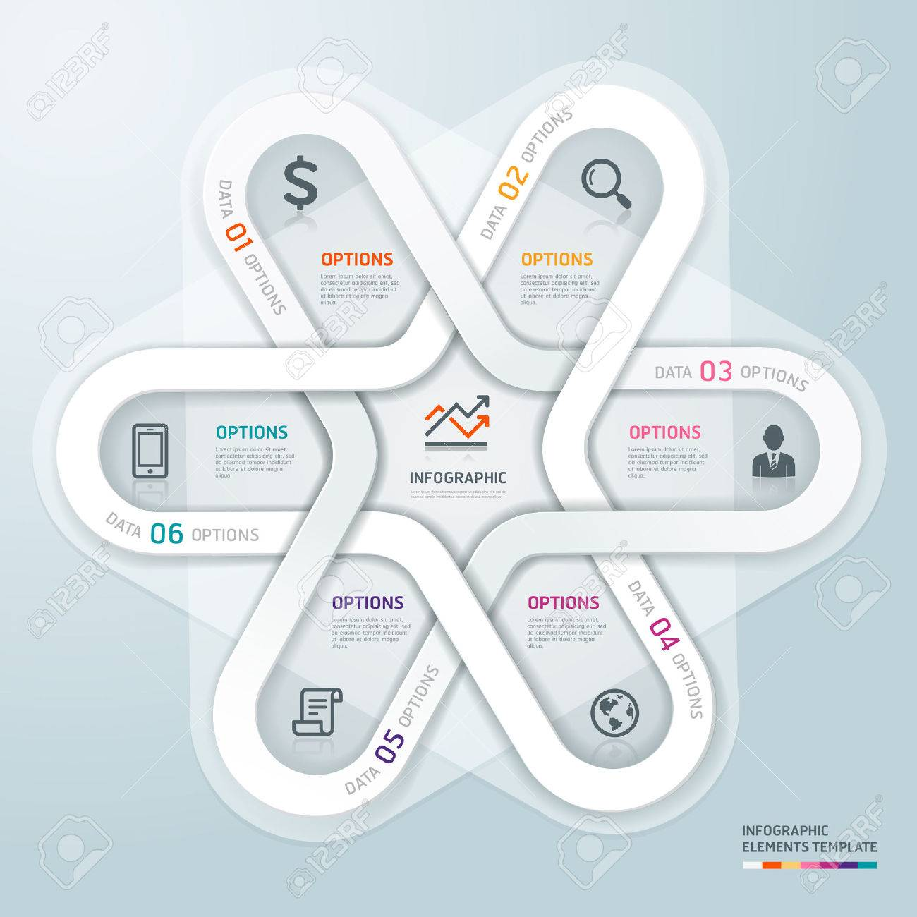 Business circle Infographics origami style. Vector illustration. can be used for workflow layout, banner, diagram, number options, step up options, web design. Stock Vector - 25320834