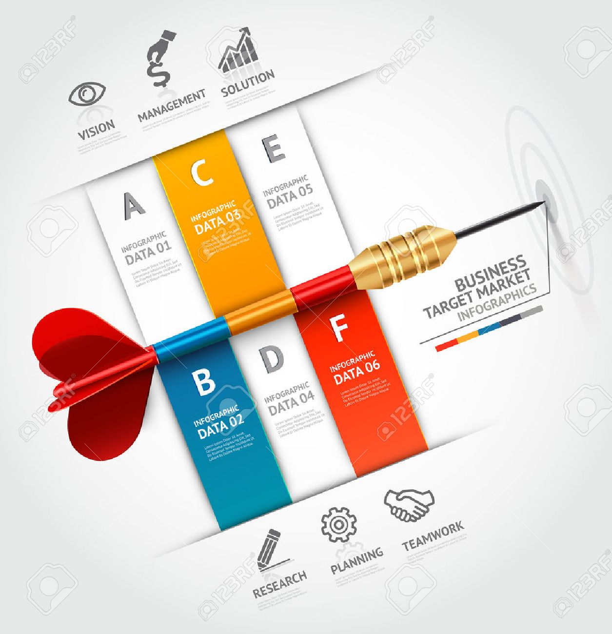 business concept infographic template business target marketing