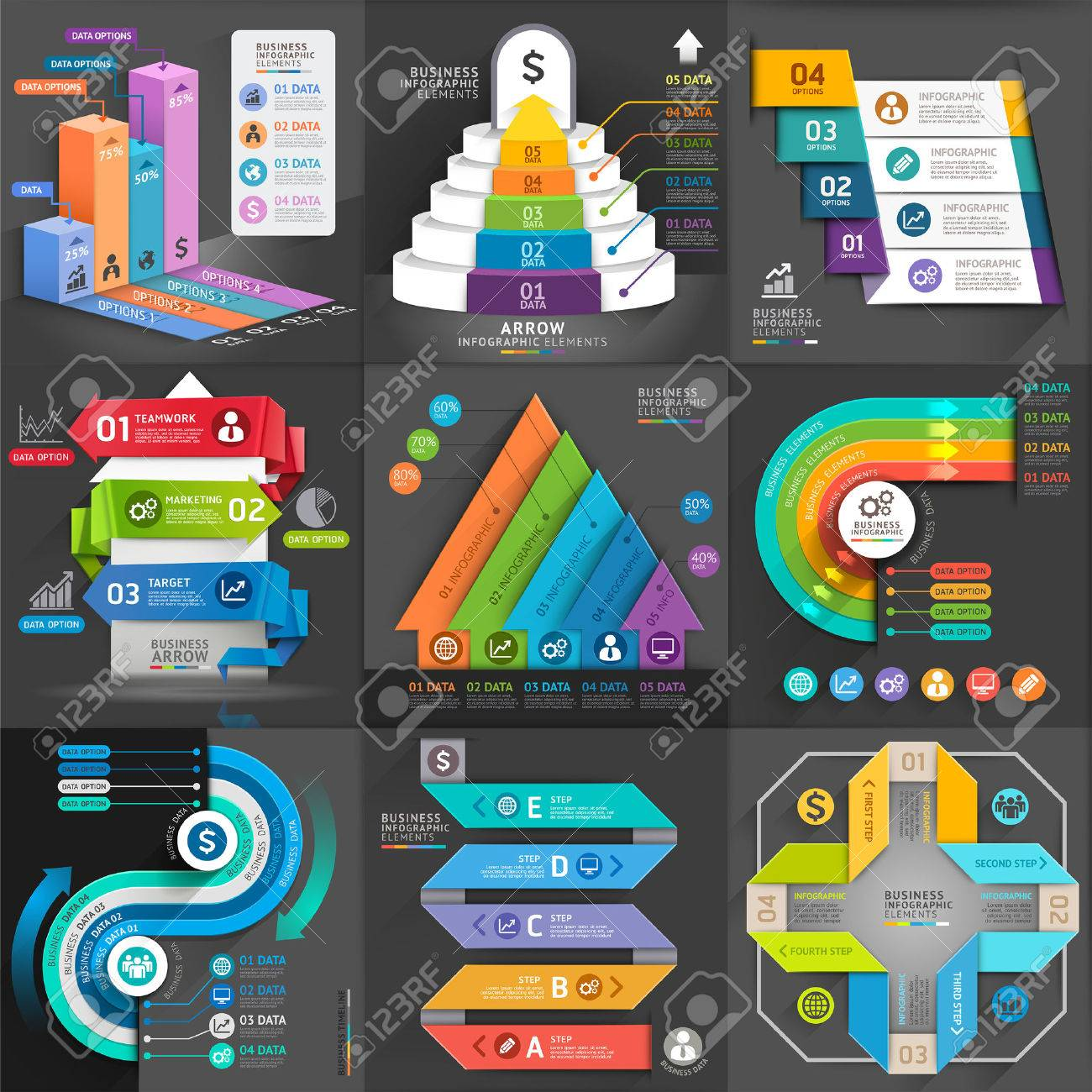 Infografik Business Template-Set. Vektor-Illustration. Kann Für Die ...