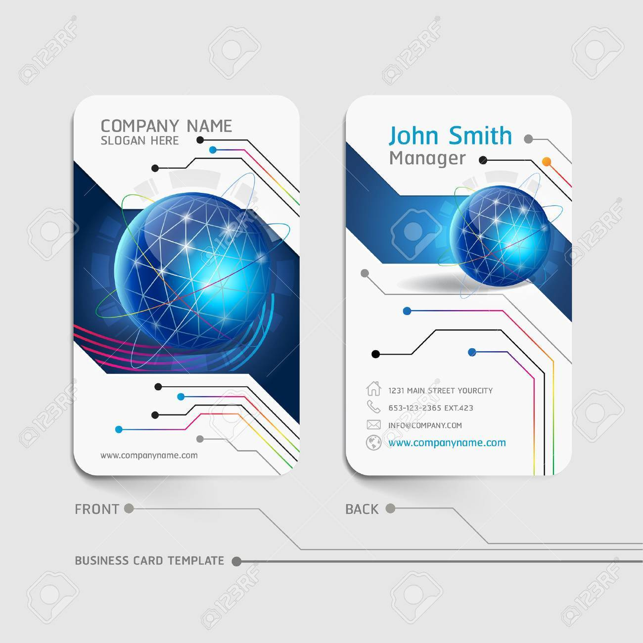 Business card abstract background Stock Vector - 43878030