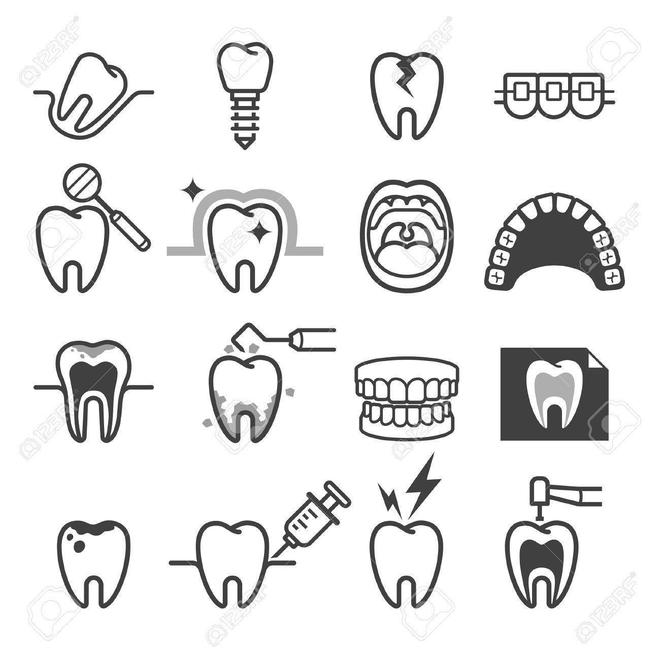 dental icons rome fontanacountryinn Dental Assistant Student Resume Sample dental tooth icons royalty free cliparts vectors and stock