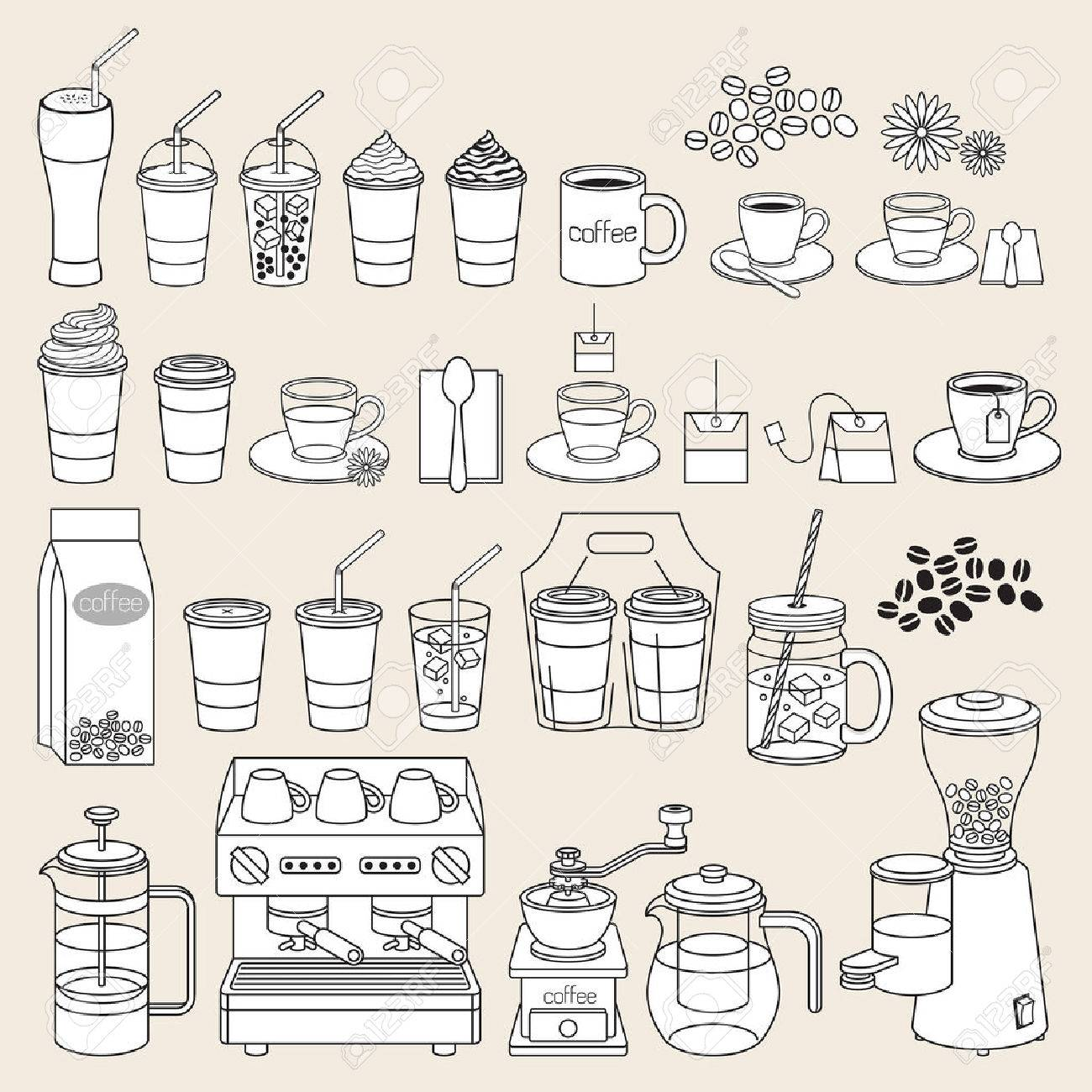 Coffee doodle icon style. Vector illustration. - 57131462