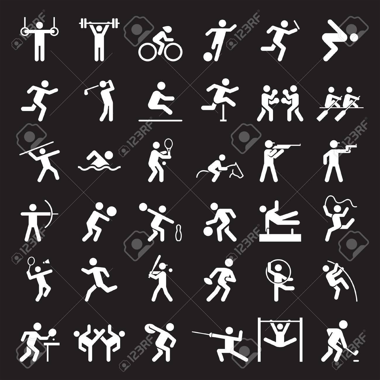 Set of sport icons. illustration. - 57844712