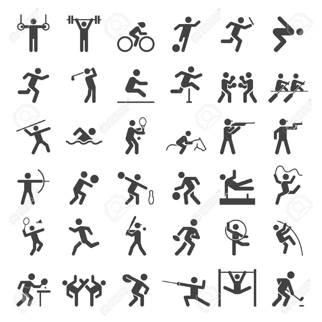 Set of sport icons. illustration. - 57844709