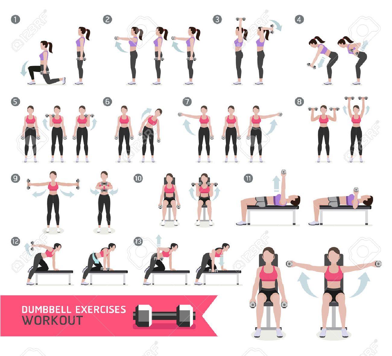 Super Femme Haltère Séance D'entraînement De Remise En Forme Et Des  WJ78