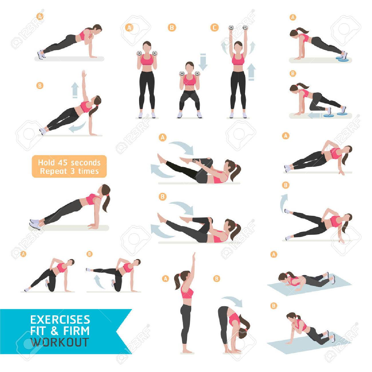 exercice fitness femme