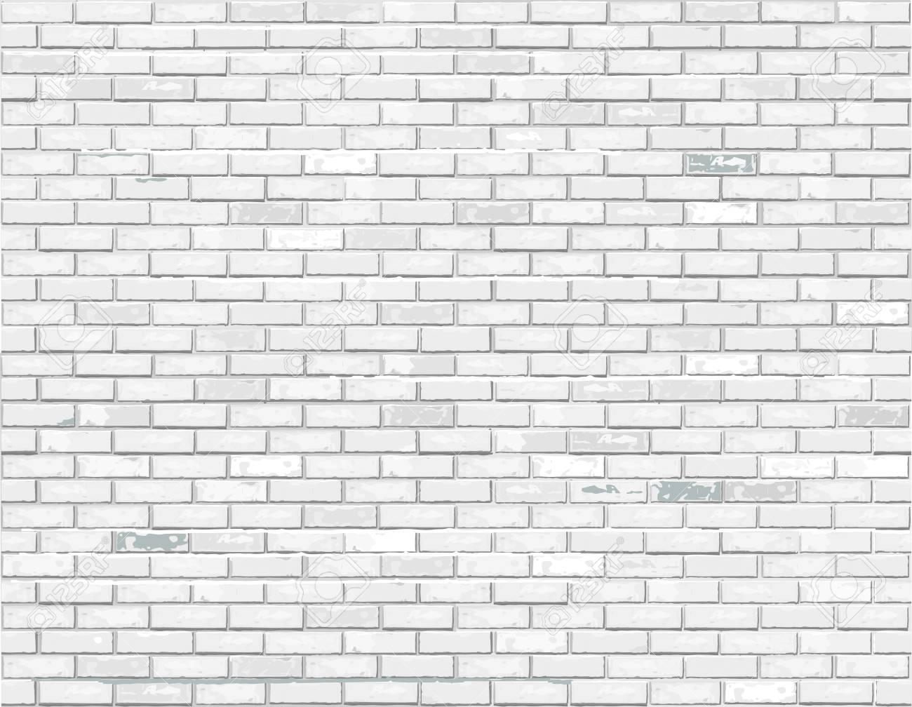 White brick background illustration. - 100212589