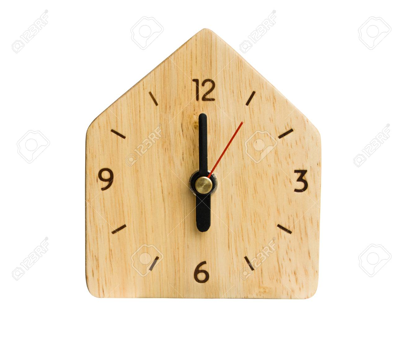 The Clock Without Numbers Isolated Render On A White Background