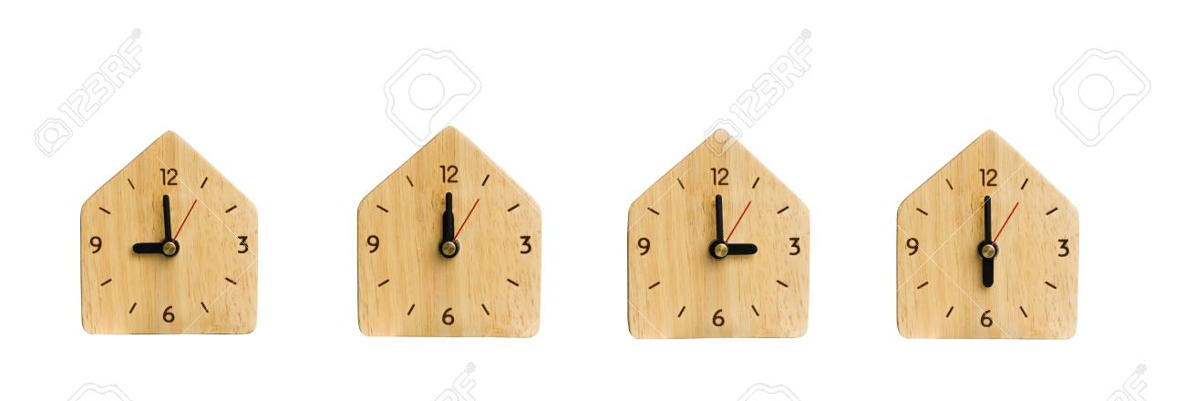 Collection The Clock Without Numbers Isolated Render On A White