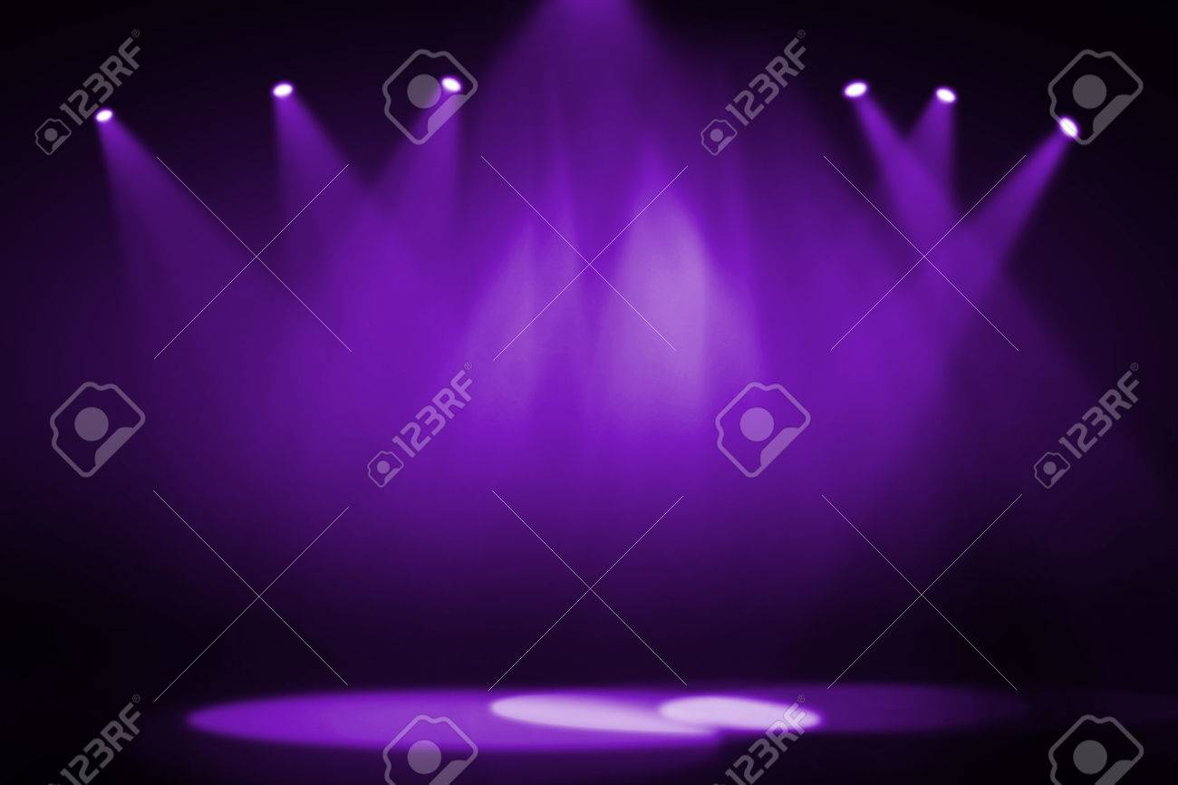 Purple stage background Purple