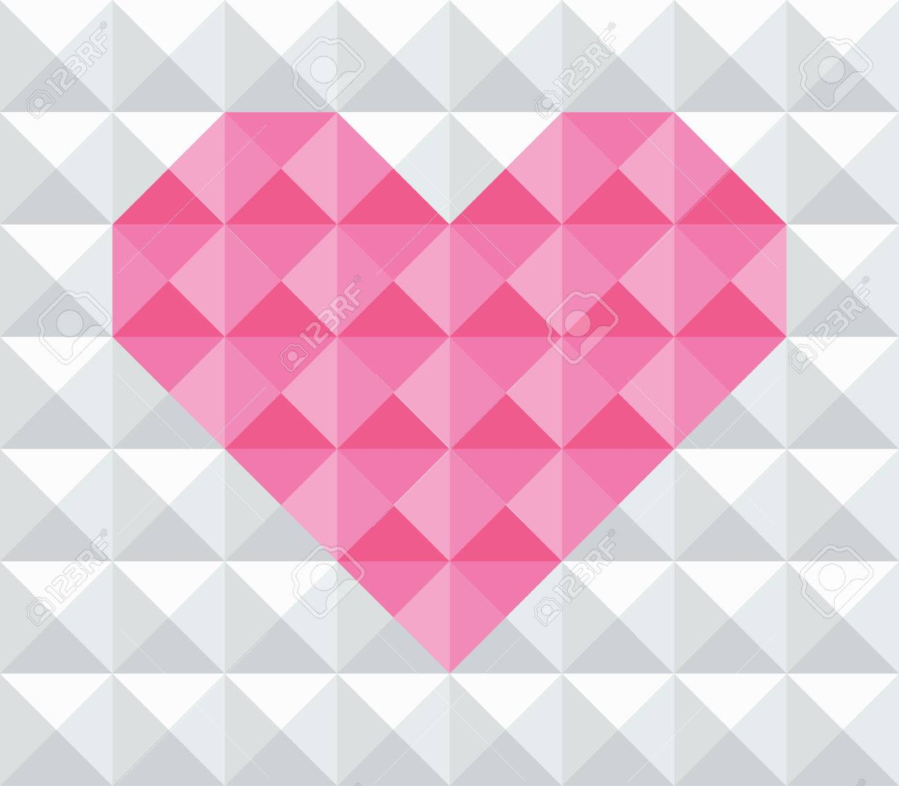 modern multi purpose valentine theme geometrical abstract texture background on white stock vector 24842091