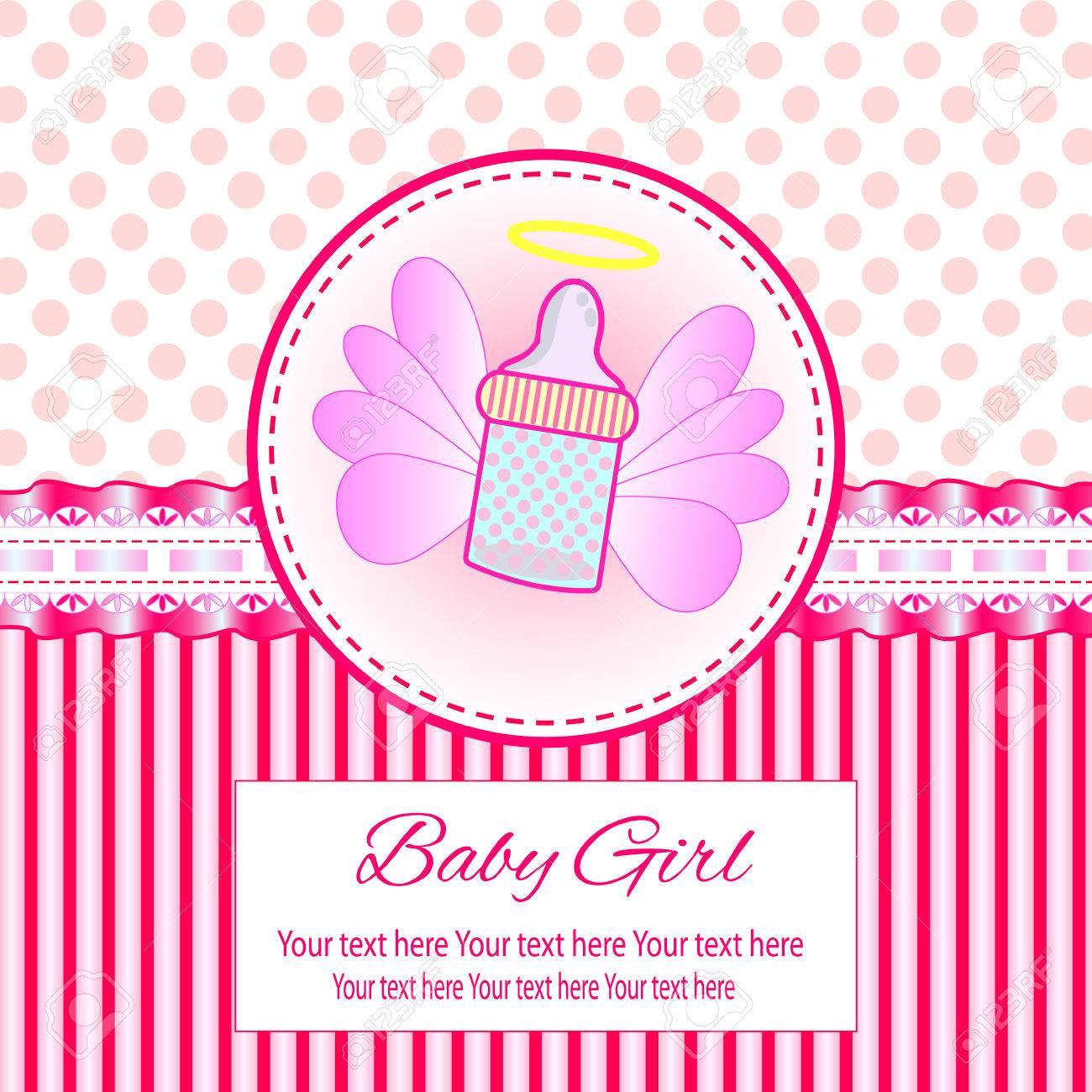 Bebe Belle Carte Fille Avec Votre Texte Pour Invitation Salutation