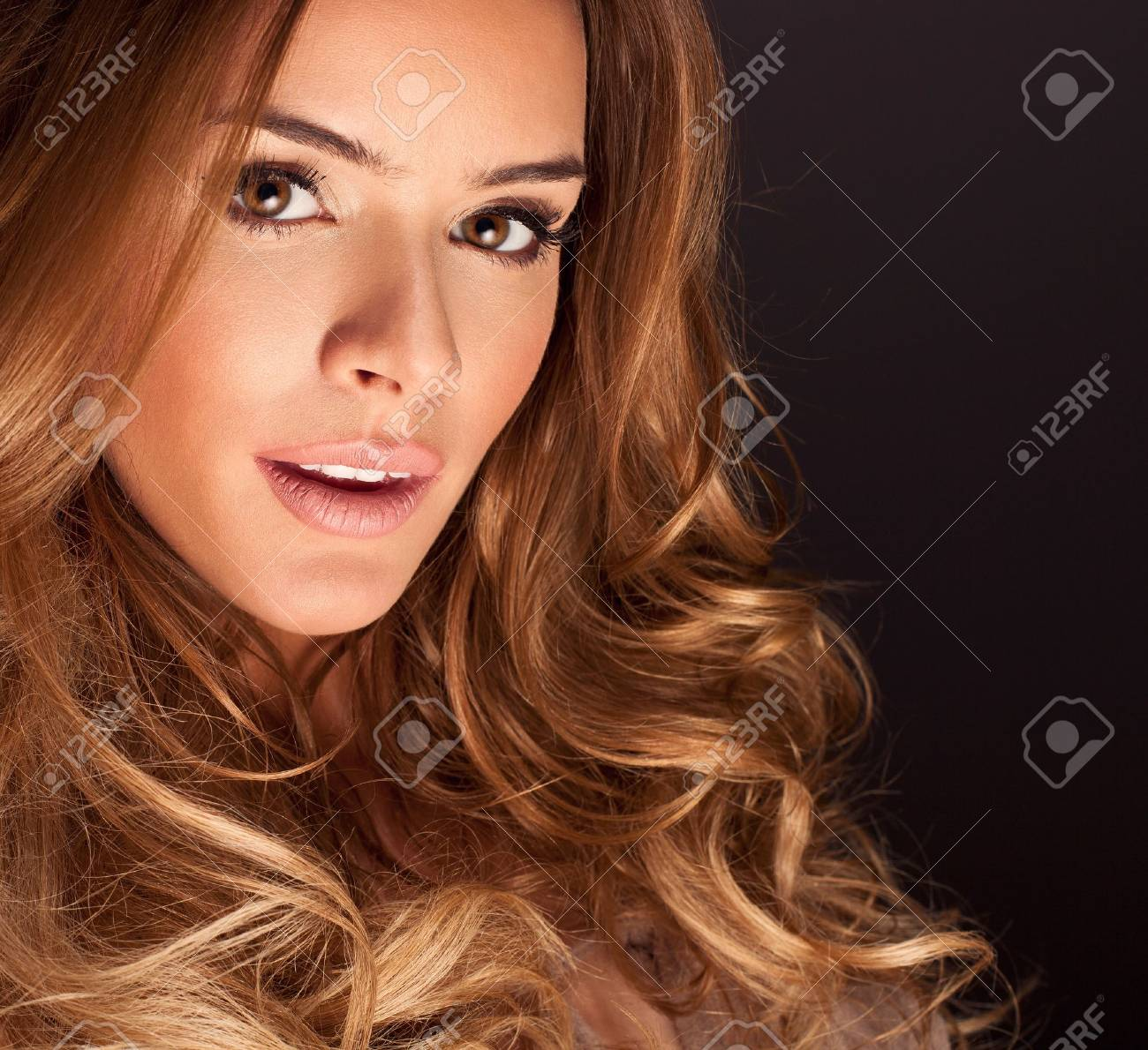 Portrait of a young woman with beautiful hair and eyes Stock Photo - 19532615